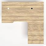 Рабочее место+USB Delta DL-102 (1590х1600х750мм) Блэквуд Ячменный/Каркас белый, фото 5