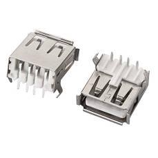 Разъем USB 2.0 мама 4pin BM 90 градусов DIP, тип B