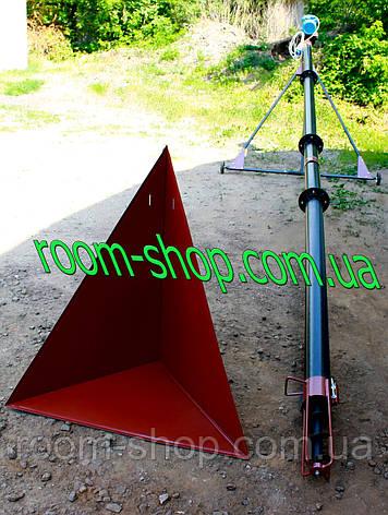 Шнековый конвейер (погрузчик, транспортер) диаметром 110 мм, длиною 5 метров, фото 2