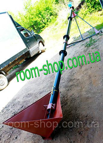 Шнековый погрузчик (винтовой конвейер) диаметром 110 мм, длиною 6 метров., фото 2