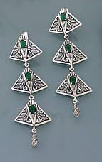 Серьги из серебра 925 пробы с цирконием, фото 3