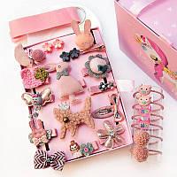 Набор 24 заколки для Принцессы для девочки Розовый
