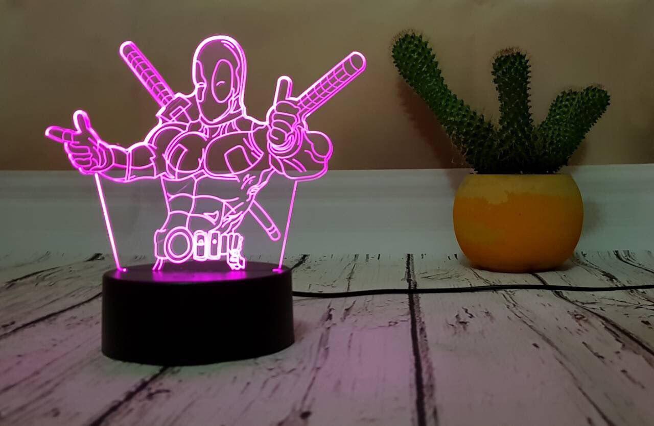 3D светильник-ночник «Дэдпул 3» 3D Creative