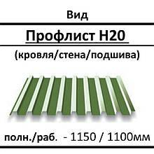 """Профилированный настил ПК 20 0,43 мм, Глянец Китай 8017 коричневый """"Тайгер стил"""""""