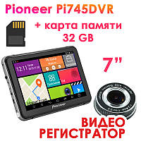 Новинка! GPS навигатор Pioneer Pi 745 DVR + AV + Карта памяти 32GB, фото 1