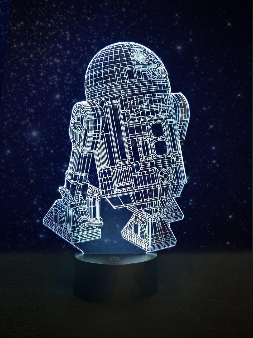 Ночник 3D светильник «R2D2» 3D Creative