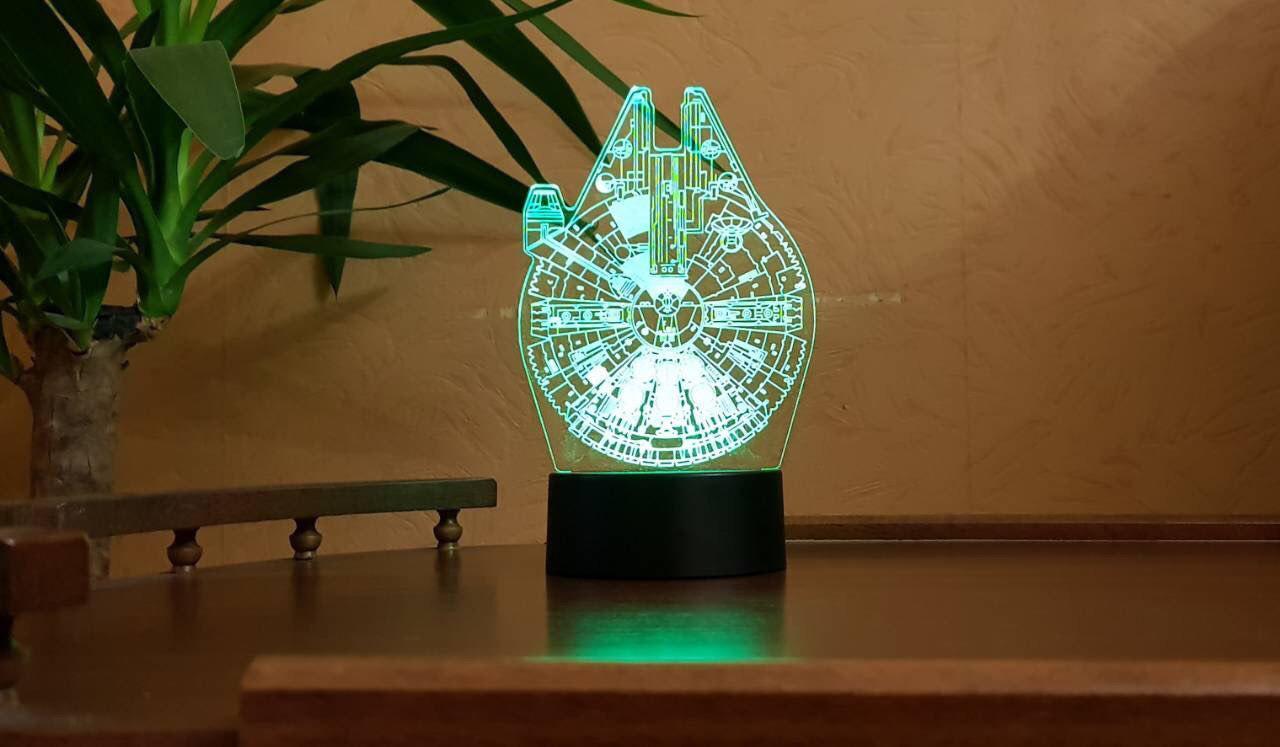 Ночник 3D светильник «Сокол тысячелетия» 3D Creative