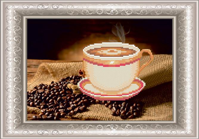 Схема для вышивки бисером Вкусный кофе (19 х 27 см) СКМ-121 Княгиня Ольга