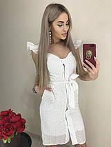 Летнее красивое платье с рюшами на рукавах /разные цвета, 42-46, ft-1037/, фото 2