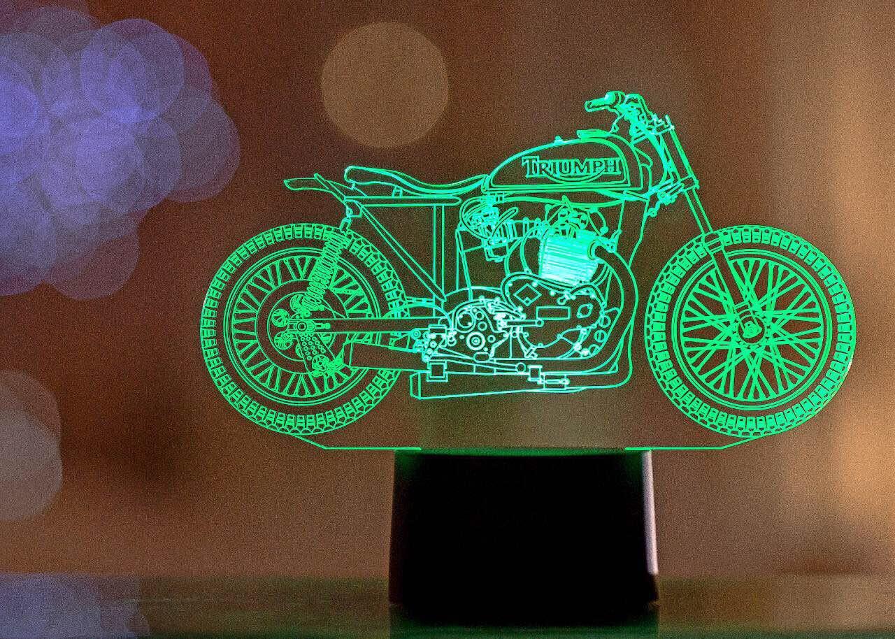 """Сменная пластина для 3D светильников """"Мотоцикл 10"""""""
