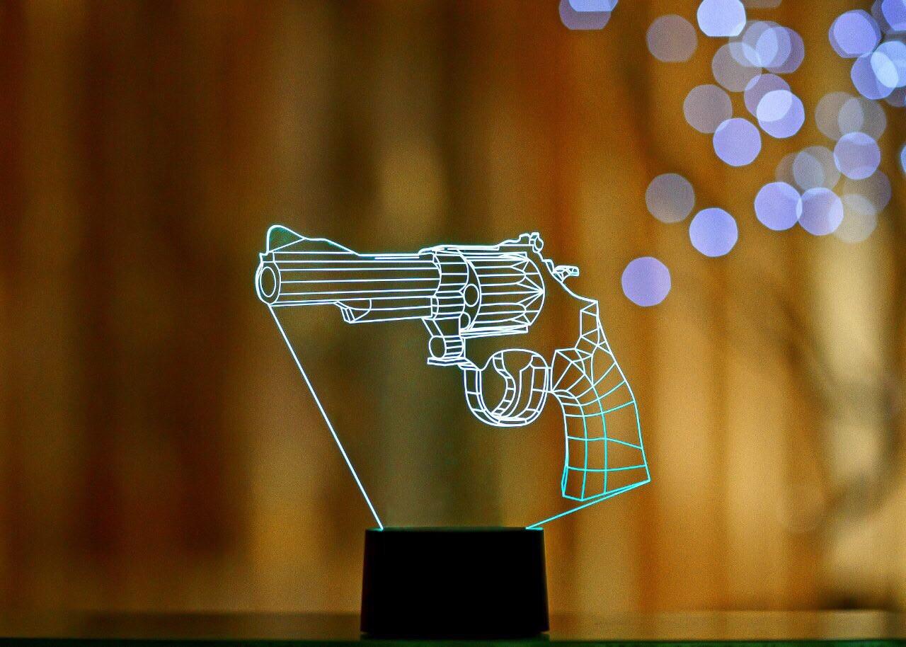 """Сменная пластина для 3D светильников """"Револьвер"""""""