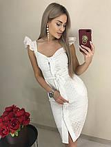 Летнее красивое платье с рюшами на рукавах (42-46, коррал, персик, желтый, белый), фото 3