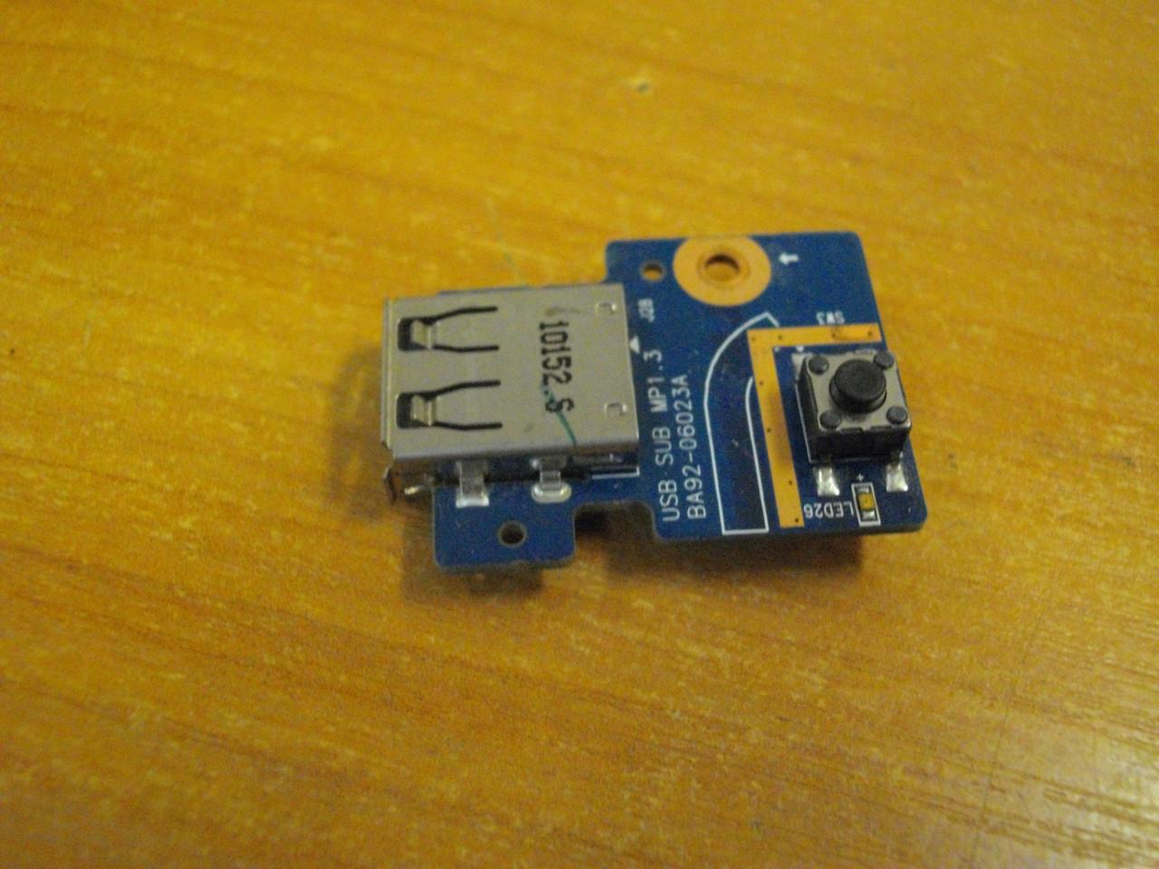 Плата з кнопкою включення і USB портом BA92-06023A Samsung R425 бу