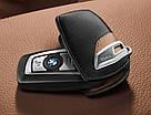 Оригинальный кожаный чехол для ключа BMW Leather Key Case Luxury Line Brown Black (82292219917), фото 2
