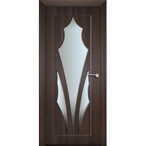 Міжкімнатні двері зі склом Неман АФІНА Н-49 темний горіх