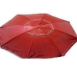 Зонт пляжный антиветер d2.0м серебро Stenson MH-2684 красный