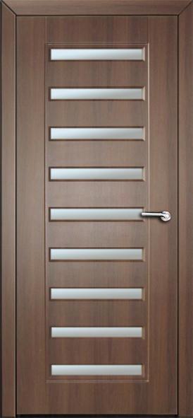 Міжкімнатні двері  зі склом Неман АВРОРА Н-51 горіх шоколадний