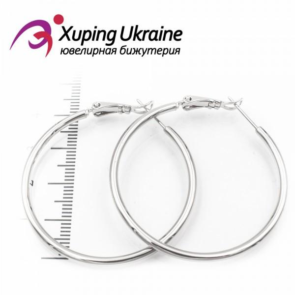 Серьги-кольца родиум 4 см