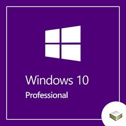 Microsoft Windows 10 Pro 64-bit English 1pk DVD OEM