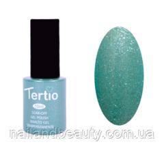 Гель-лак Tertio Светло-зеленый с голубым микроблеском №074 10 мл