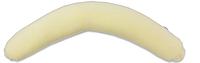 Наволочка на подушку для беременных Комфорт ТМ Лежебока Хлопковый велюр Желтая