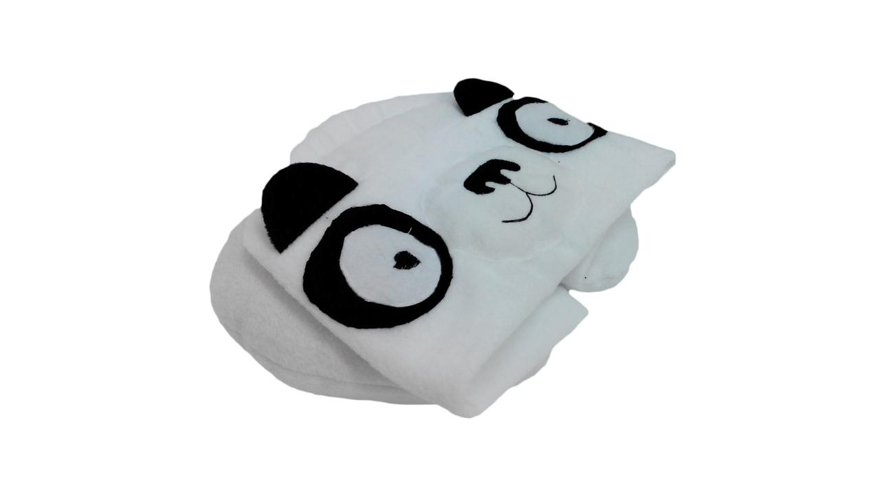 Дорожная подушка с капюшоном Панда ТМ Лежебока