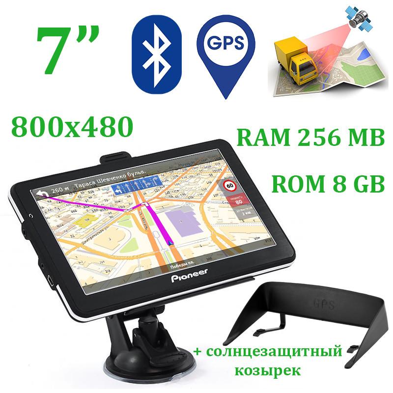 "Новинка GPS навигатор Pioneer Pi7120 7"" Win CE 6.0 + BT + AV + Козырек, фото 1"