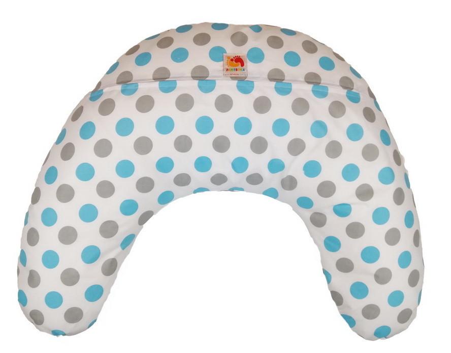 Подушка для кормления младенцевТМ Лежебока Шарики пенополистирола Цветные горохи