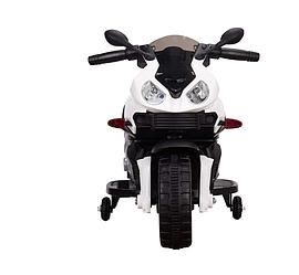 Детский мотоцикл M 4080 L-1, кожаное сиденье, белый