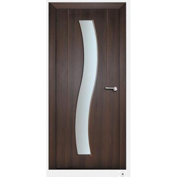 Міжкімнатні двері зі склом Німан ХВИЛЯ Н-56 Венге 800х2000