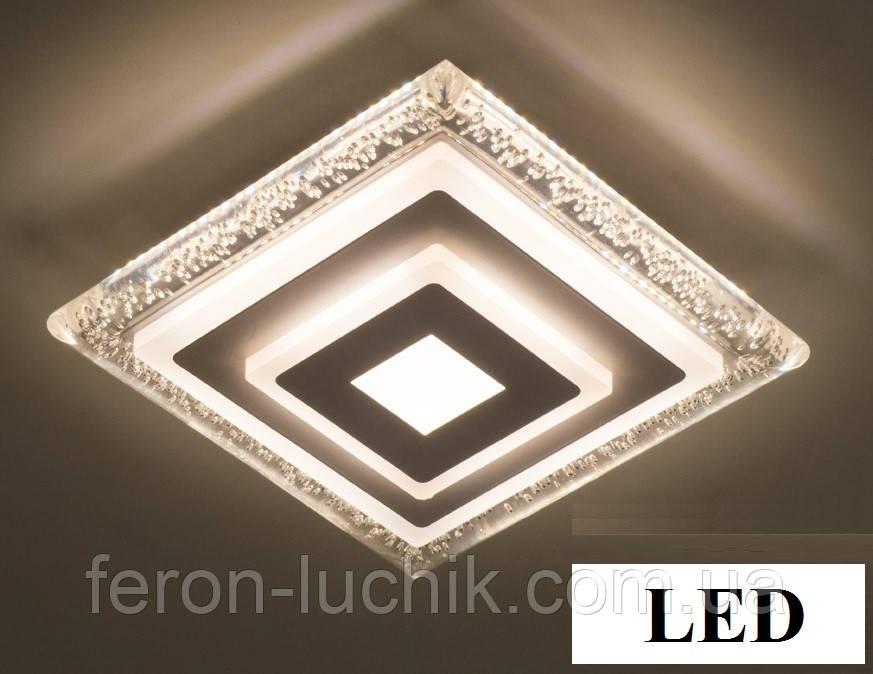 Світильник світлодіодний 22W LED квадратний стельовий з бульбашками 1615