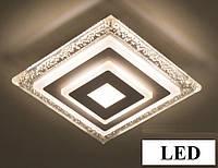 Світильник світлодіодний 22W LED квадратний стельовий з бульбашками 1615, фото 1