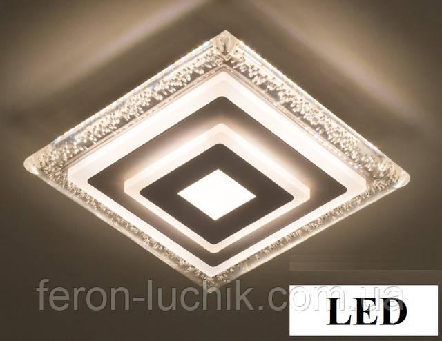Светильник led квадрат 42w универсальный способ монтажа: накладной и встраиваемый.