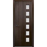 Міжкімнатні двері Неман зі склом ЛОФТ Н-60 темний горіх