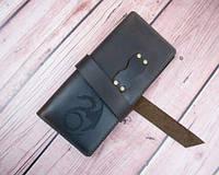 Шкіряний гаманець з гравіюванням Перекотиполе