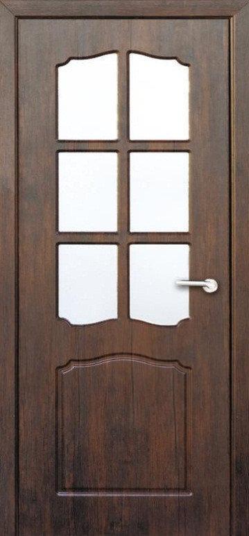 Міжкімнатні двері Неман зі склом КЛАСІК Н-62 горіх темний