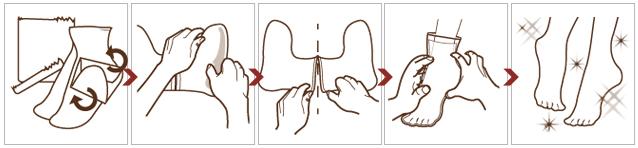 пілінг для стоп Calmia спосіб застосування