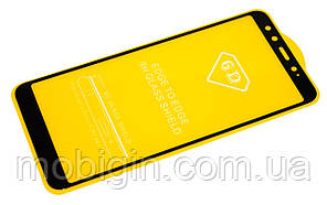 Защитное стекло Xiaomi Redmi Mi A2 / Mi 6x черное Full Glue 3D, на весь экран, полная поклейка