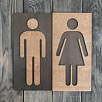 """Деревянная табличка, указатель """"Туалет/ WC"""", 25*25 см"""