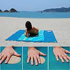 Пляжный коврик Антипесок Sand Free Mat - Голубой - Лучшая Подстилка на пляж Качество + Подарок!, фото 3