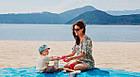Пляжный коврик Антипесок Sand Free Mat - Голубой - Лучшая Подстилка на пляж Качество + Подарок!, фото 5