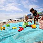 Пляжный коврик Антипесок Sand Free Mat - Голубой - Лучшая Подстилка на пляж Качество + Подарок!, фото 7