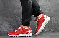 Мужские кроссовки Reebok Sublite, кожаные, красные