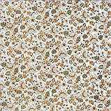 Декоративная ткань с мелкими оранжевыми цветами на белом турецкая 84491v3, фото 2