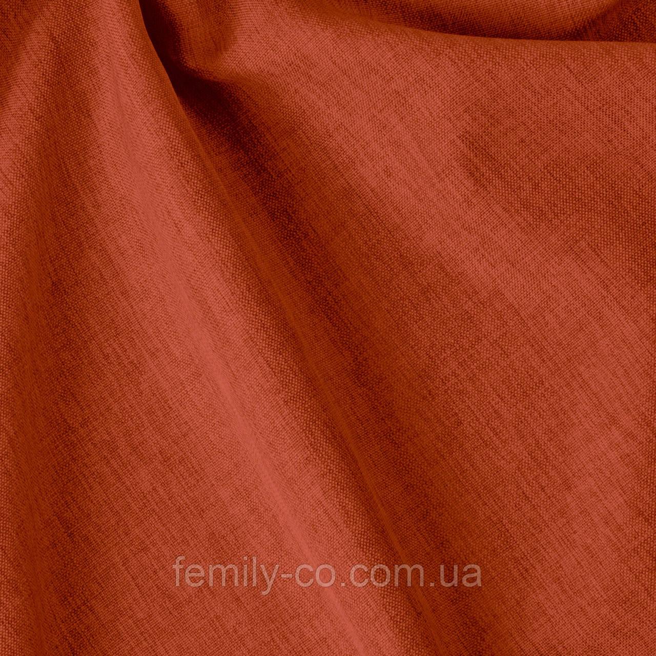Декоративная однотонная ткань оранжевого цвета Турция 84454v11
