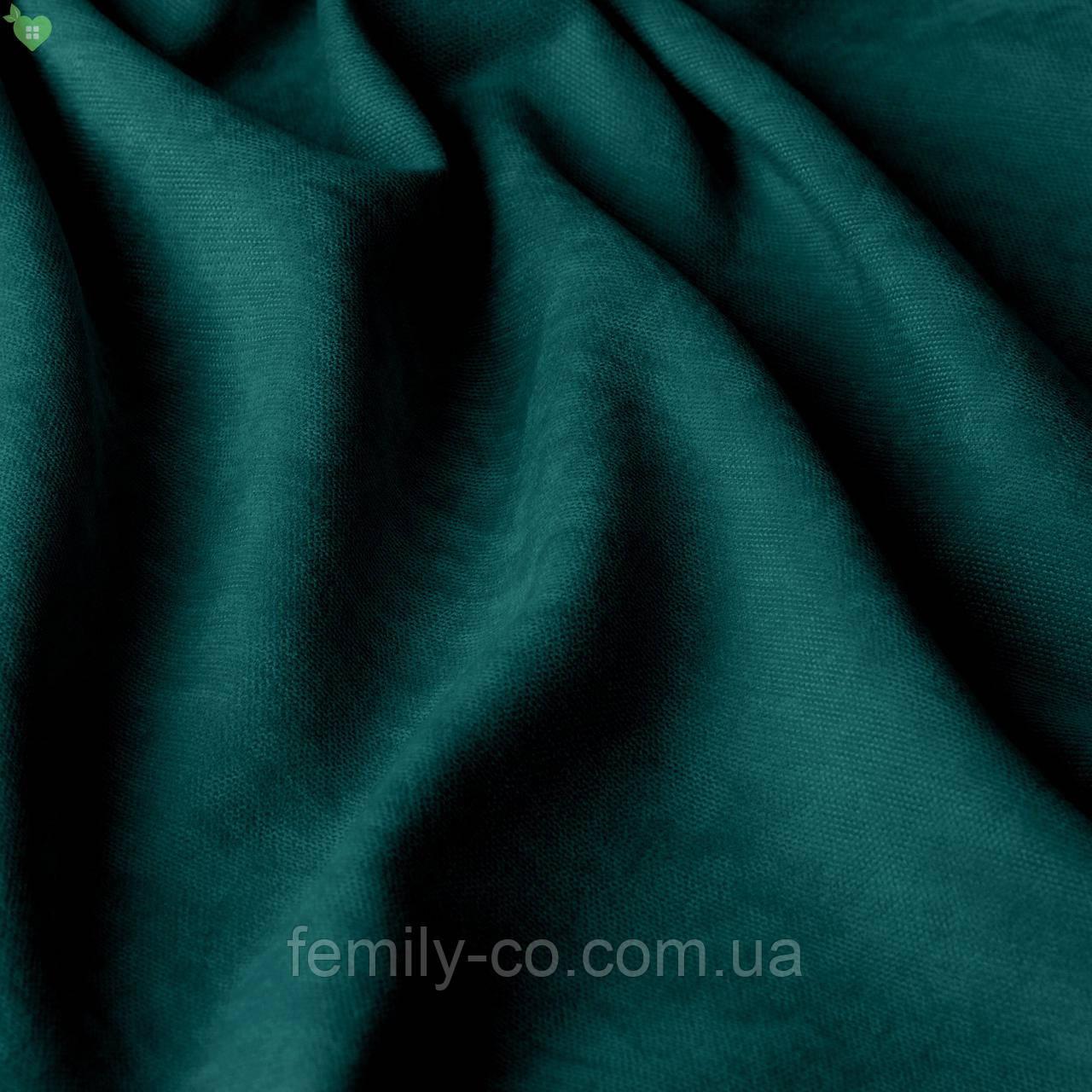 Однотонная декоративная ткань велюр зеленый 84369v23