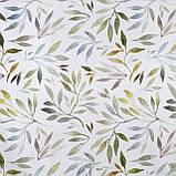 Декоративная ткань с листьями растений голубого и зеленого цвета  84299v1, фото 2