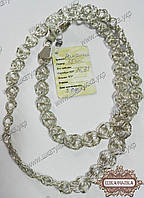 Срібний ланцюжок з плетінням Ромашка, фото 1