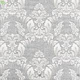 Декоративная ткань серо-сиреневого цвета с классическим орнаментом Испания 84241v1, фото 2