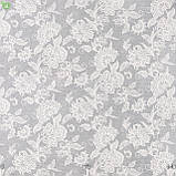 Декоративная ткань серого цвета с классическим цветочным орнаментом Испания 84240v1, фото 2
